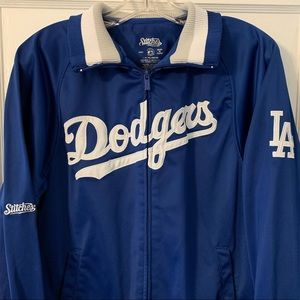 Stitches MLB LA Dodgers Warm Up Track Jacket Sz S